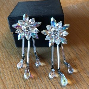 Beautiful sparkly crystal vintage clip earrings